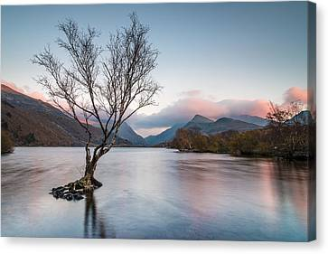 Sunset At Llyn Padarn Canvas Print by Christine Smart