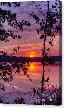 Sunset At Loch Raven Canvas Print by ELDavis Photography