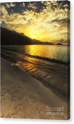Miami Canvas Print - Sunset At Magens Beach by Eyzen M Kim