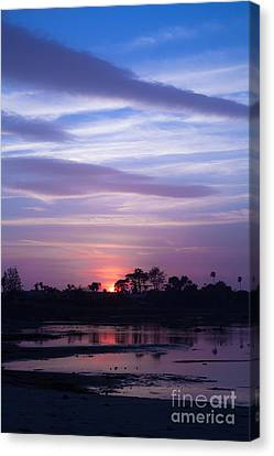 Sunset At Malibu Beach Lagoon Estuary Fine Art Photograph Print Canvas Print by Jerry Cowart