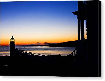 Sunset At Marshall Point Lighthouse In Maine Canvas Print
