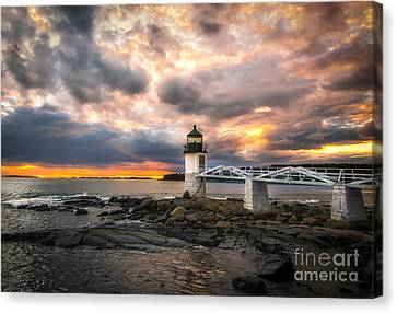 Sunset At Marshall Point Canvas Print by Scott Thorp