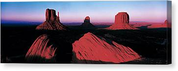 Sunset At Monument Valley Tribal Park Canvas Print