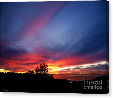 Sunset At Mount Carmel  Haifa 01 Canvas Print by Arik Baltinester