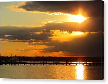 Sunset At National Harbor Canvas Print