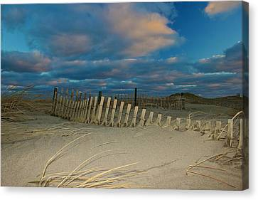 Canvas Print featuring the photograph Sunset At Nauset Beach Cape Cod by Amazing Jules