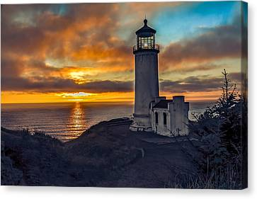 Haybale Canvas Print - Sunset At North Head by Robert Bales