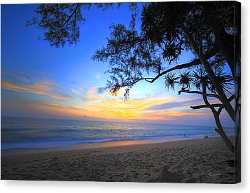 Sunset At Paradise Canvas Print