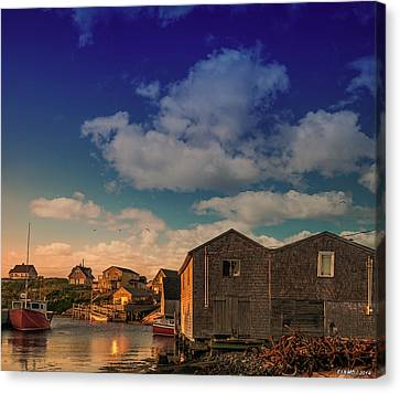 Sunset At Peggy's Cove 05 Canvas Print