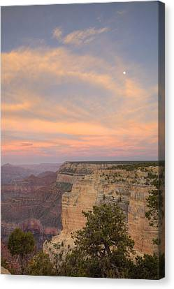 Canvas Print featuring the photograph Sunset At Powell Point by Alan Vance Ley