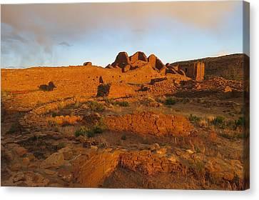 Sunset At Pueblo Del Arroyo Canvas Print