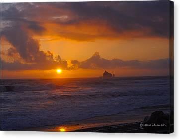 Sunset At Rialto Canvas Print