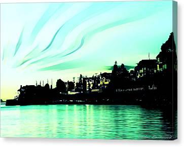 Sunset At Richmond Beach Washington Canvas Print by Eddie Eastwood