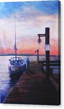 Sunset At Rocky Point Canvas Print by Sher Nasser