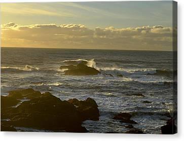 Sunset At Santa Cruz Canvas Print