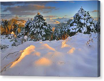 Sunset At Sierra Nevada Canvas Print by Guido Montanes Castillo