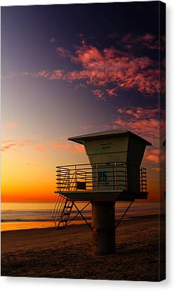 Sunset At South Carlsbad State Park Canvas Print by Eric Foltz