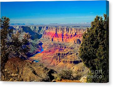 Haybale Canvas Print - Sunset At South Rim by Robert Bales