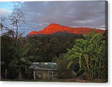 Canvas Print featuring the photograph Sunset At Sphinx Rock by Ankya Klay