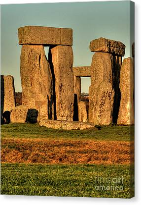 Sunset At Stonehenge 2 Canvas Print