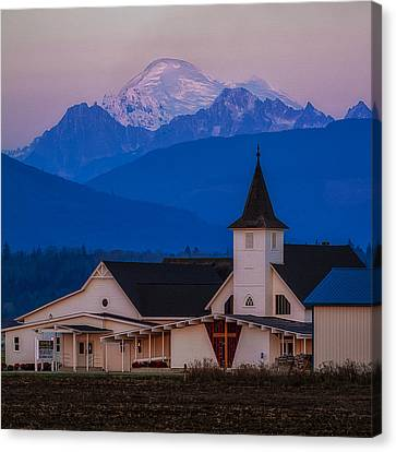 Sunset At The Chapel Canvas Print