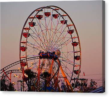 Sunset At The Fair Canvas Print by David Lee Thompson