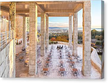 Sunset At The Getty Canvas Print