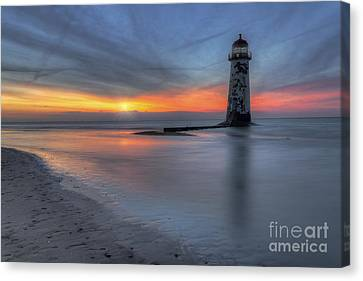 Sunset At The Lighthouse V3 Canvas Print by Ian Mitchell