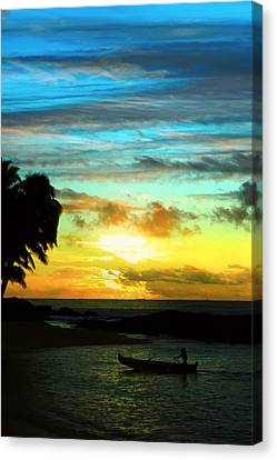 Sunset At The Luau Canvas Print