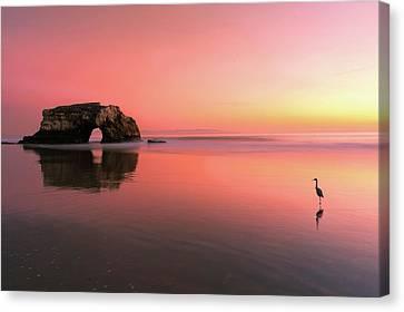 Sunset At The Natural Bridge-2 Canvas Print