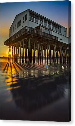 Sunset At The Pier Canvas Print by Susan Candelario