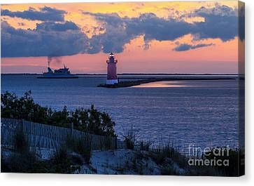 Sunset At The Point Canvas Print by Robert Pilkington