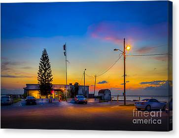 Sunset At The Post Canvas Print
