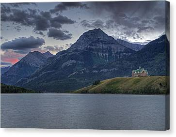 Sunset At The Prince Of Wales Canvas Print by Darlene Bushue