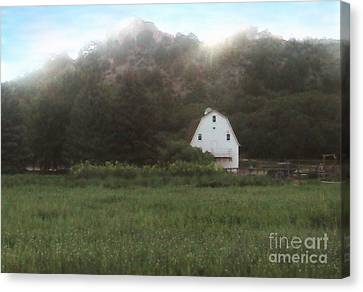 Sunset At The Ranch Canvas Print by Cristophers Dream Artistry