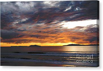 Canvas Print featuring the photograph Sunset At The Shores by Janice Westerberg