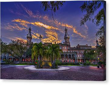 Downtown Canvas Print - Sunset At U.t. by Marvin Spates