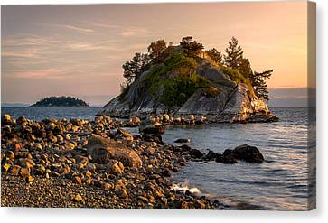 Sunset At Whyte Islet Canvas Print