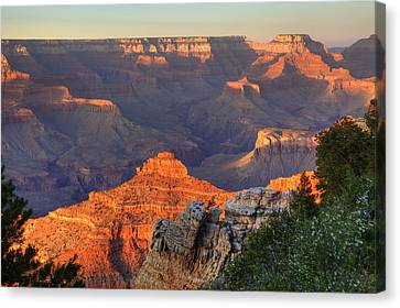 Canvas Print featuring the photograph Sunset At Yaki Point by Alan Vance Ley