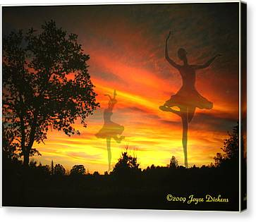 Sunset Ballerina Canvas Print by Joyce Dickens