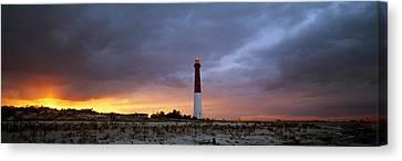 Sunset, Barnegat Lighthouse State Park Canvas Print