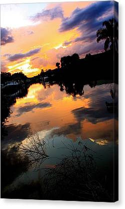 Sunset Bay Canvas Print by AR Annahita