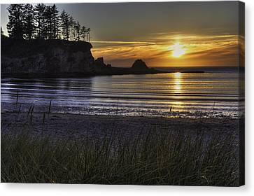 Sunset Bay Paradise Canvas Print by Mark Kiver