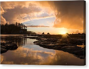 Sunset Bay Reflections Canvas Print by Patricia Davidson