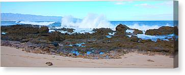 Sunset Beach Crashing Wave - Oahu Hawaii Canvas Print by Brian Harig