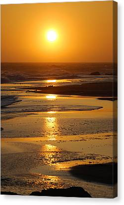 Sunset Beach Canvas Print by Richard Hinger
