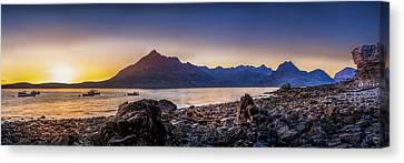 Sunset Black Cuillin Isle Of Skye Scotland Canvas Print