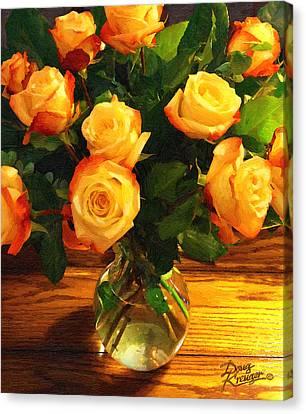 Sunset Bouquet Canvas Print