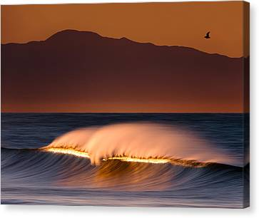 Canvas Print featuring the photograph Sunset Breaking73a0456 by David Orias