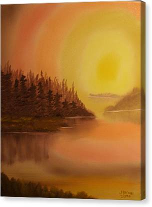 Sunset Brown Island  Canvas Print by James Waligora